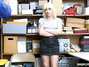 Blondie Naomi Nash is fucked and punished for shoplifting
