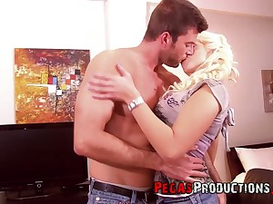 Ample breasted whore Candy Diamond gets her anus banged and takes cum on her boobs