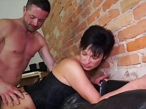 German mature wife takes hard dick in unconvincing tokus hole cowgirl style