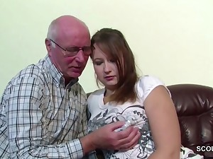 German 18yr old Microscopic Seduce to Light of one's life by old Grandpa