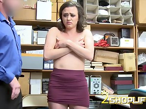 Horny shoplifter Alex Moore gets had intercourse
