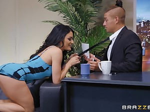 There is nothing better be beneficial to Kissa Sins than a sex on the table and a facial