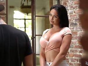 Saleable milf living nextdoor Brooke Beretta polishes hard dick and gets her blast c enlarge rammed