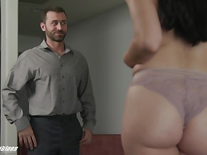 Cock teasing bootyfull seductress Alex Coal just wants that man's cock